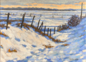 Springbank Snow, o/c, 12x16, framed, SOLD
