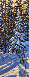 Winter Shadows, oil, 40x16, $1450