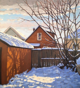 Chinook Shadows, oil, 27x24, framed, $1750