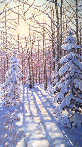 Snow Covered Spruce 1, oil, 48x24, SOLD