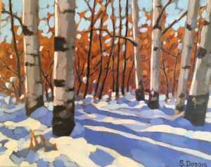 Weaselhead Aspens, oil, 8x10, SOLD