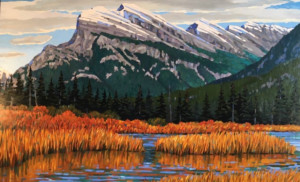 Rundle Autumn, oil, 36x60, framed, $3760