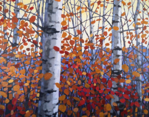 Fall Aspens, oil, 24x30, framed, SOLD