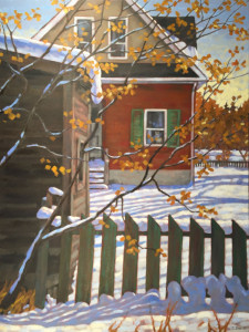 Bridgeland Memories, oil, 40x30, framed, SOLD