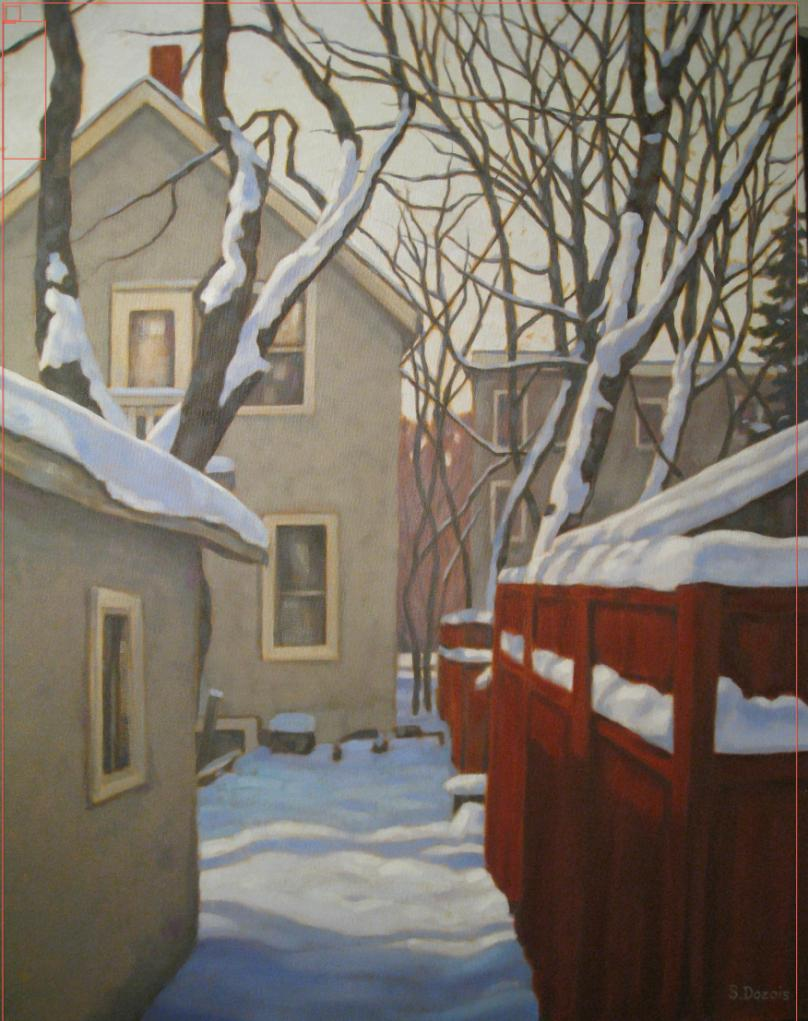 Fresh Snow, oil, 30x24, framed, SOLD