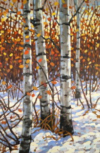 Early Snow, oil, 36x24, framed, SOLD