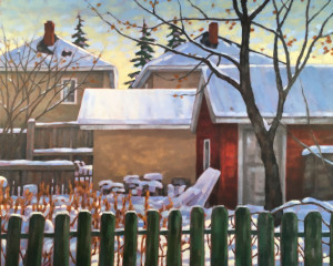 Bridgeland Morning, oil, 24x30, framed, SOLD