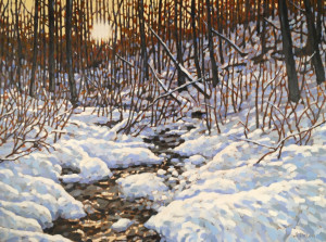 Paskapoo Slopes, oil, 30x40, framed, SOLD