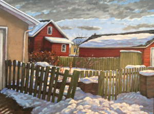 Old Green Fence, 30x40, oil, $1945