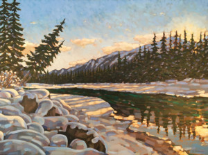 Kootenay River, oil, 30x40, framed, SOLD