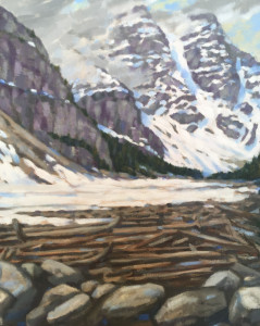 Moraine Lake, oil, 20x16, framed, available