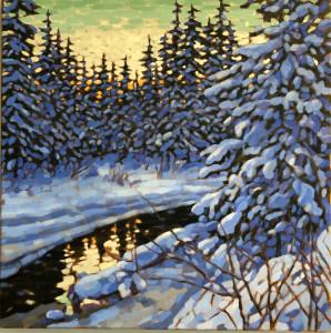 Griffith Woods, oil, 24x24, framed, $1490