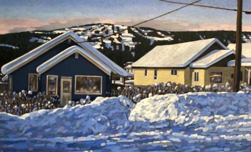 Off to the Hill, oil, 30x48, SOLD