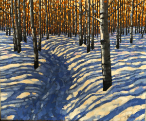 Paskapoo Slopes Trail, oil, 20x24, framed, $1480