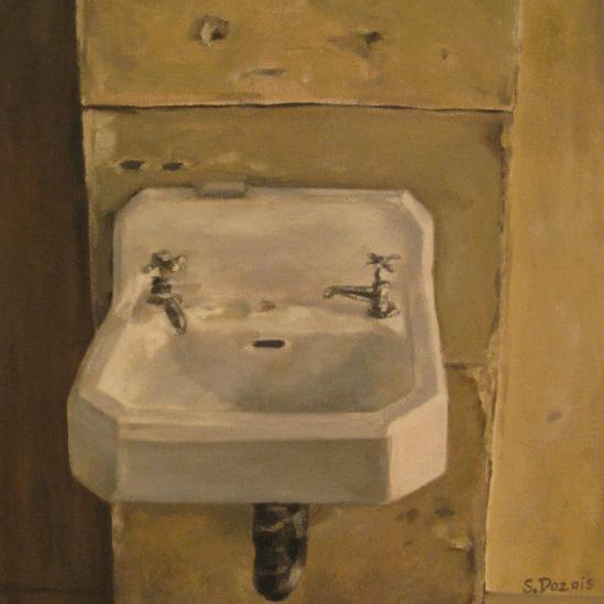 Carol's Sink, oil, 12x12, SOLD