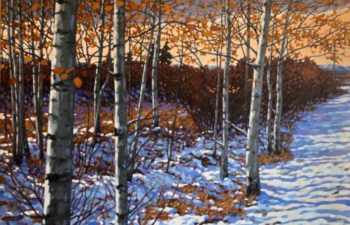Aspens, oil, 36x48, framed, SOLD