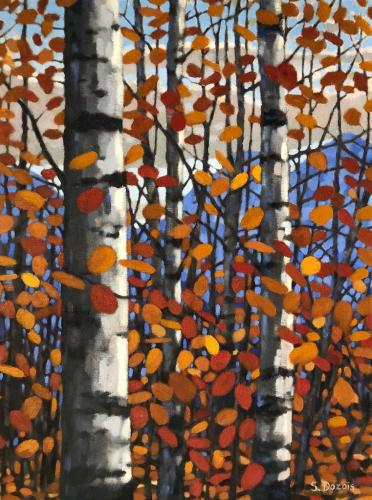 Fall Aspen, oil, 24x18, framed, $1499