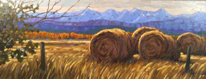 Prairie Mountains, 19x48.5, oil, framed, SOLD