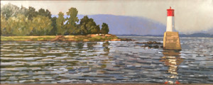 Mara Lake Lighthouse, oil, 19x48.5, SOLD