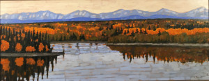 Glenmore Resevoir, 19x48.5, oil, framed, SOLD