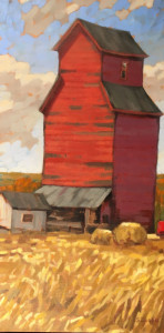 Red Elevator, 30x15, oil, $1080