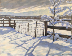 After the Snow, oil, 16x20, framed, $1140