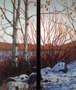 Along the Bow, oil, 48x32 diptych, SOLD