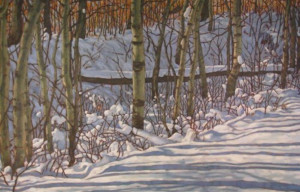 Before the Thaw, oil, 30x48 ,SOLD