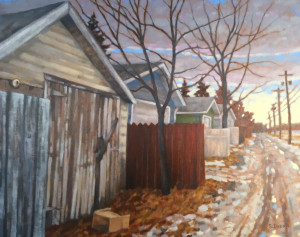 Off to School, oil, 24x30, SOLD